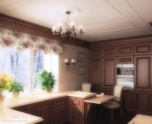 Дизайн ремонта кухни загородного дома